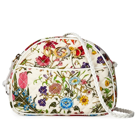 Gucci Handbags - GUCCI Floral Flora Quilted Mini Trapuntata Bag